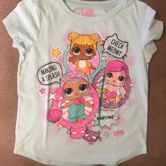 53daa539429d MGA Shirts & Tops   Girls Lol Surprise Aqua Short Sleeve Tshirt M 78 ...